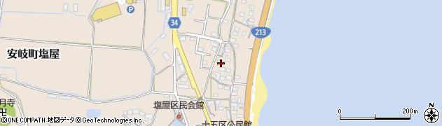 大分県国東市安岐町塩屋1660周辺の地図