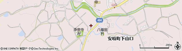 大分県国東市安岐町下山口1147周辺の地図