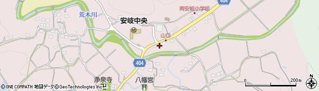 大分県国東市安岐町下山口579周辺の地図