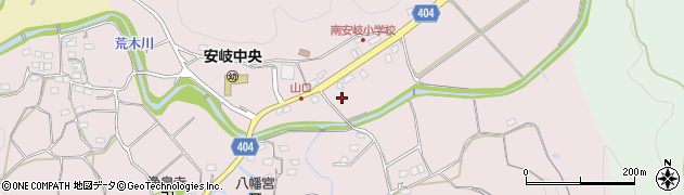 大分県国東市安岐町下山口546周辺の地図