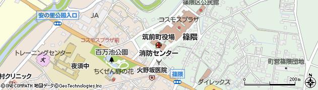 福岡県筑前町(朝倉郡)周辺の地図