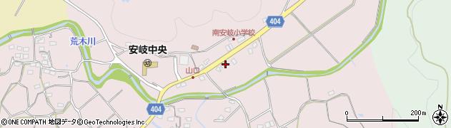 大分県国東市安岐町下山口548周辺の地図