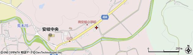 大分県国東市安岐町下山口556周辺の地図