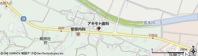 大分県国東市安岐町西本883周辺の地図