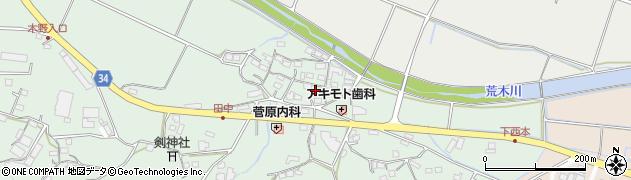 大分県国東市安岐町西本872周辺の地図