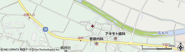 大分県国東市安岐町西本845周辺の地図