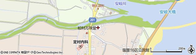 大分県国東市安岐町塩屋1周辺の地図