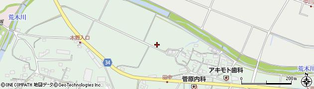 大分県国東市安岐町西本田中周辺の地図