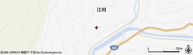 福岡県朝倉市下戸河内周辺の地図