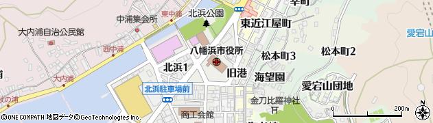 愛媛県八幡浜市周辺の地図