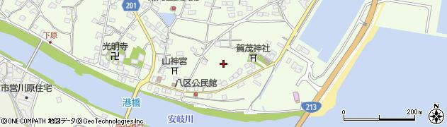 大分県国東市安岐町下原港周辺の地図