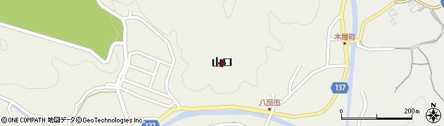 福岡県筑紫野市山口周辺の地図