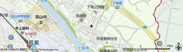 福岡県筑紫野市下見周辺の地図