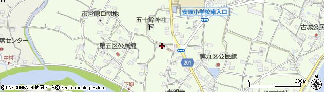 大分県国東市安岐町下原2586周辺の地図