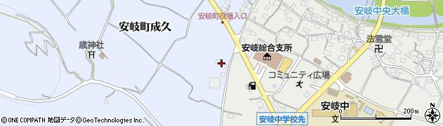大分県国東市安岐町成久65周辺の地図