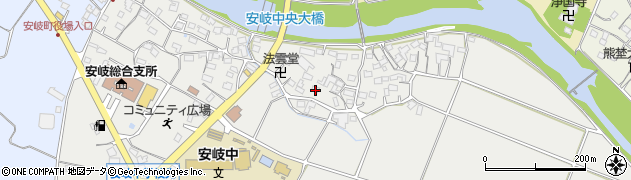 大分県国東市安岐町中園589周辺の地図