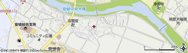 大分県国東市安岐町中園周辺の地図