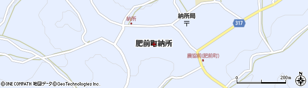 佐賀県唐津市肥前町納所周辺の地図