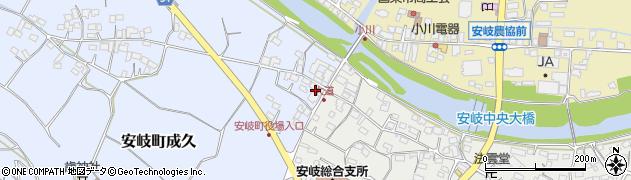 大分県国東市安岐町成久15周辺の地図