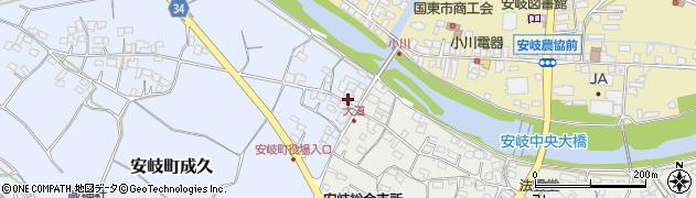 大分県国東市安岐町成久12周辺の地図