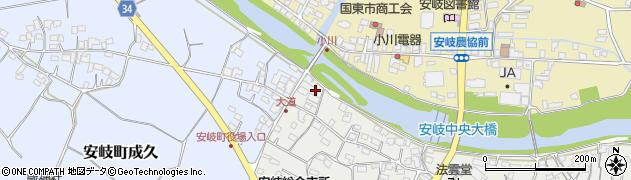 大分県国東市安岐町中園24周辺の地図