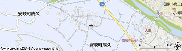 大分県国東市安岐町成久472周辺の地図