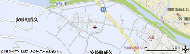 大分県国東市安岐町成久470周辺の地図