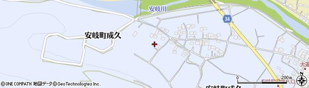 大分県国東市安岐町成久599周辺の地図