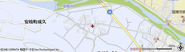 大分県国東市安岐町成久460周辺の地図