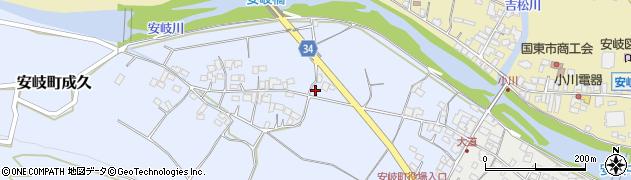 大分県国東市安岐町成久443周辺の地図