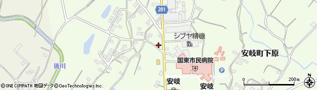 大分県国東市安岐町下原1448周辺の地図