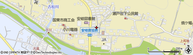 大分県国東市安岐町瀬戸田周辺の地図