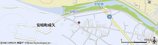 大分県国東市安岐町成久511周辺の地図