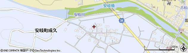 大分県国東市安岐町成久501周辺の地図