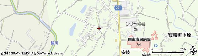 大分県国東市安岐町下原2704周辺の地図