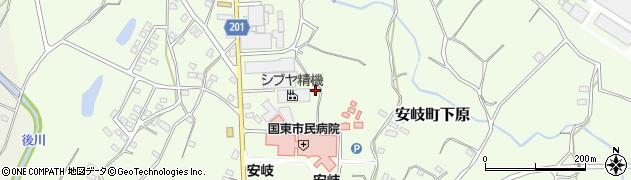 大分県国東市安岐町下原1331周辺の地図