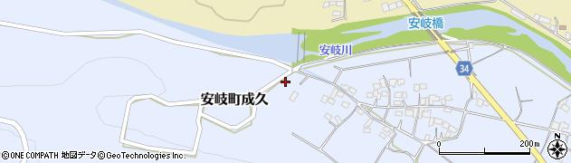 大分県国東市安岐町成久578周辺の地図