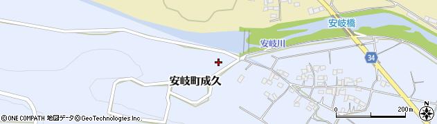 大分県国東市安岐町成久809周辺の地図