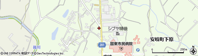 大分県国東市安岐町下原1441周辺の地図