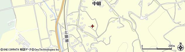 高知県高岡郡佐川町中組狩場周辺の地図