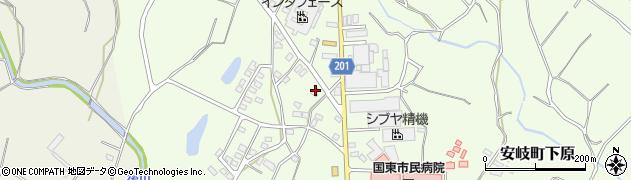 大分県国東市安岐町下原1435周辺の地図