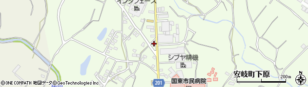 大分県国東市安岐町下原1375周辺の地図