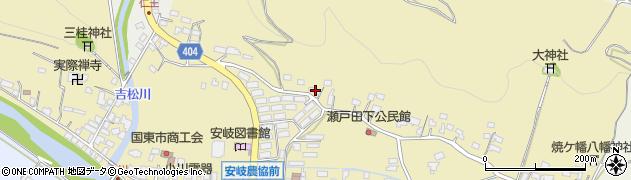 大分県国東市安岐町瀬戸田96周辺の地図