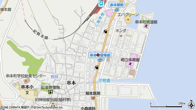 〒649-3500 和歌山県東牟婁郡串本町(以下に掲載がない場合)の地図