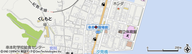 和歌山県東牟婁郡串本町周辺の地図