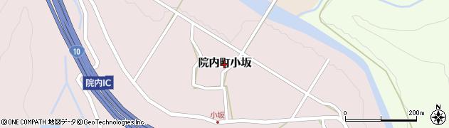 大分県宇佐市院内町小坂周辺の地図