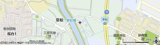 筑紫野市役所 常松浄水場周辺の地図