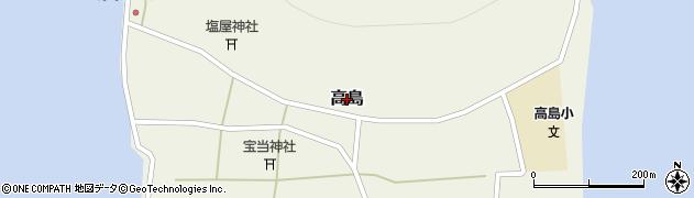 佐賀県唐津市高島周辺の地図