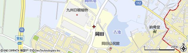 福岡県筑紫野市岡田周辺の地図