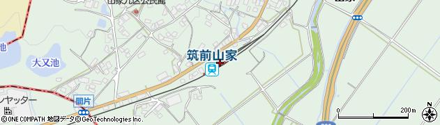 福岡県筑紫野市周辺の地図